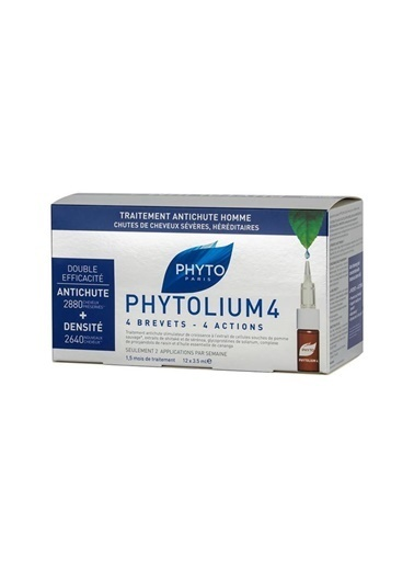 PHYTO PHYTO Phytolium 4 Chronic Thinning Hair Treatment Serum 12 x 3.5 ml - Saç Dökülmesi (Erkek) Renksiz
